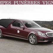 Services funéraires avec la limousine STYLO Mercedes en Picardie