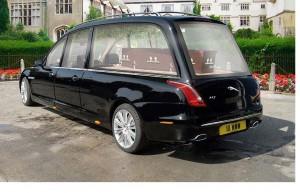 Corbillard limousine Jaguar