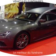 Corbillard limousine Maserati au salon funeraire Funermostra 2019