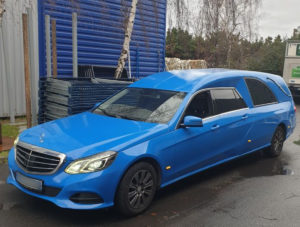 Corbillard limousine Blue
