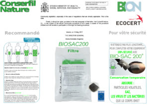 Filtres absorbants Bio Sac 200